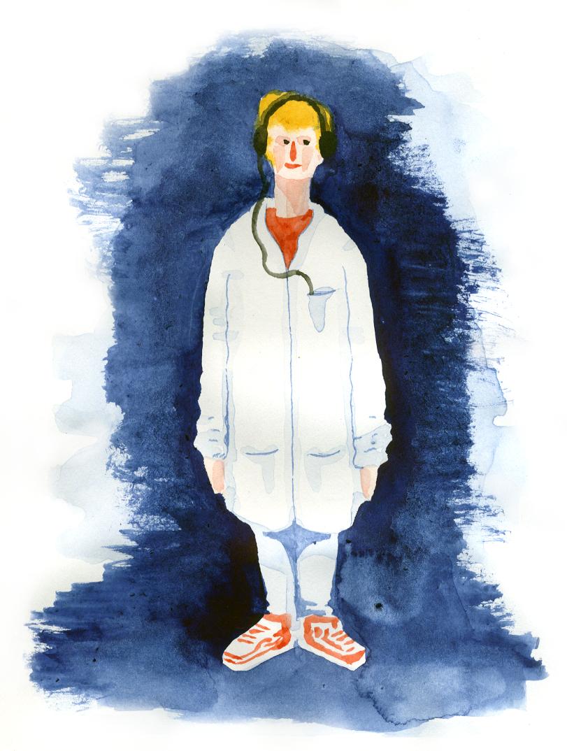 Deltagare. Skiss av Albin Werle